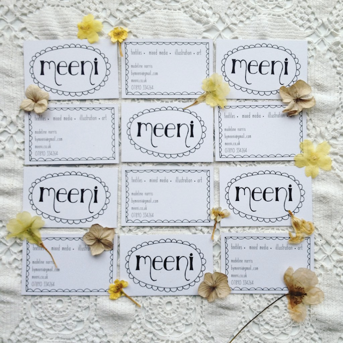 Friday's Favourites, Get into the Festive Spirit: Business cards by Meeni