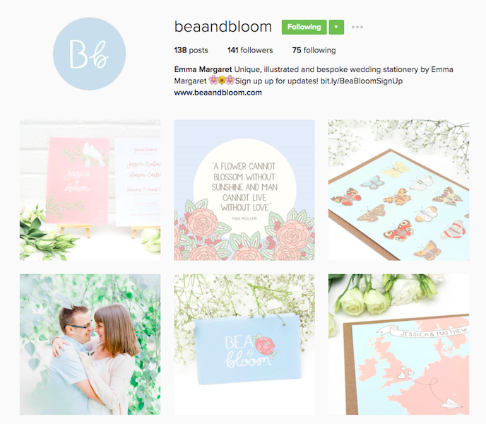 Bea and Bloom Instagram Account stationers should be following