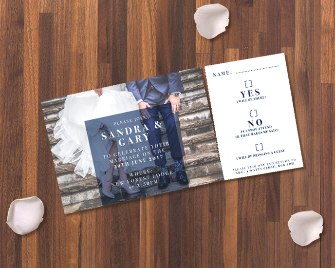 RSVP Wedding: how can you use perforation from Printed.com