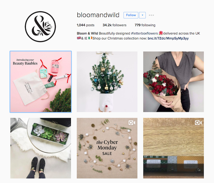 Bloom & Wild Instagram Account stationers should be following