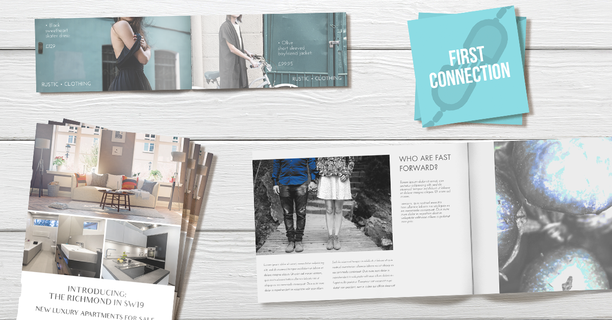 christmas print list: business cards, leaflets and flyers and postcards