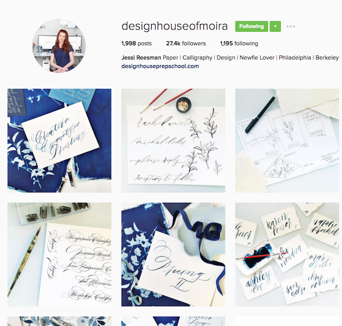 Design House of Moira Instagram Account stationers should be following