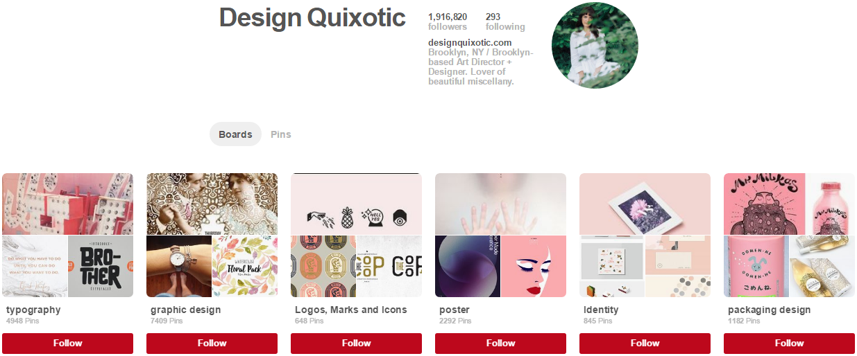 Design Quixotic Pinterest Accounts