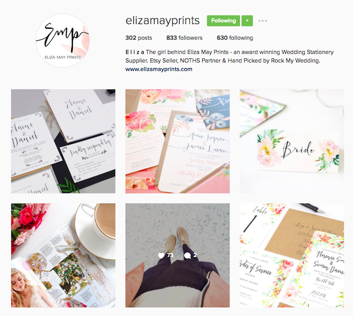 Eliza May Prints Instagram Account stationers should be following