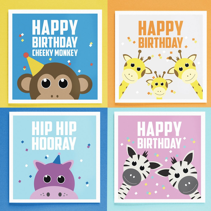 Printed.com July Edition 2016: Children's Birthday Cards by Fruit Salad Studio