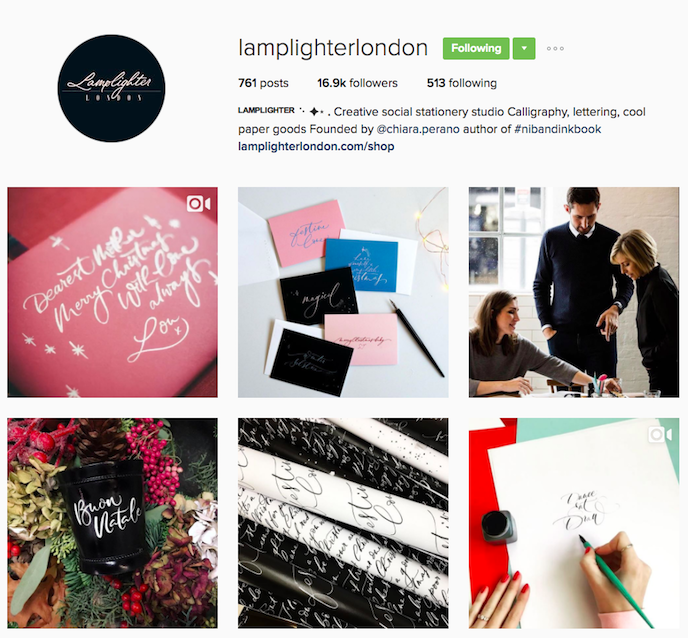 Lamplighter London Instagram Account stationers should be following