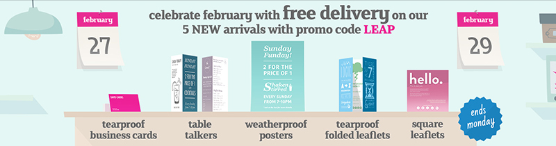 Leap year new products free delivery promo