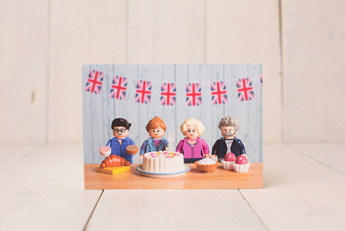 The Great British Bake Off: Greeting cards by Minifig Moments
