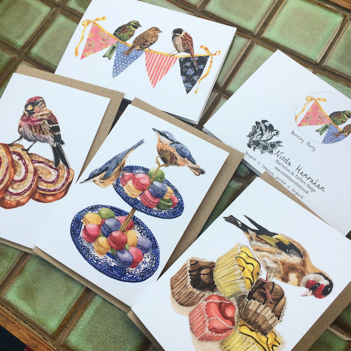 The Great British Bake Off: Greeting cards by Nicola Hanrahan