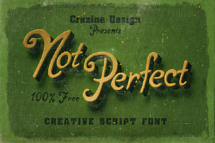 Font of the month - Not Perfect