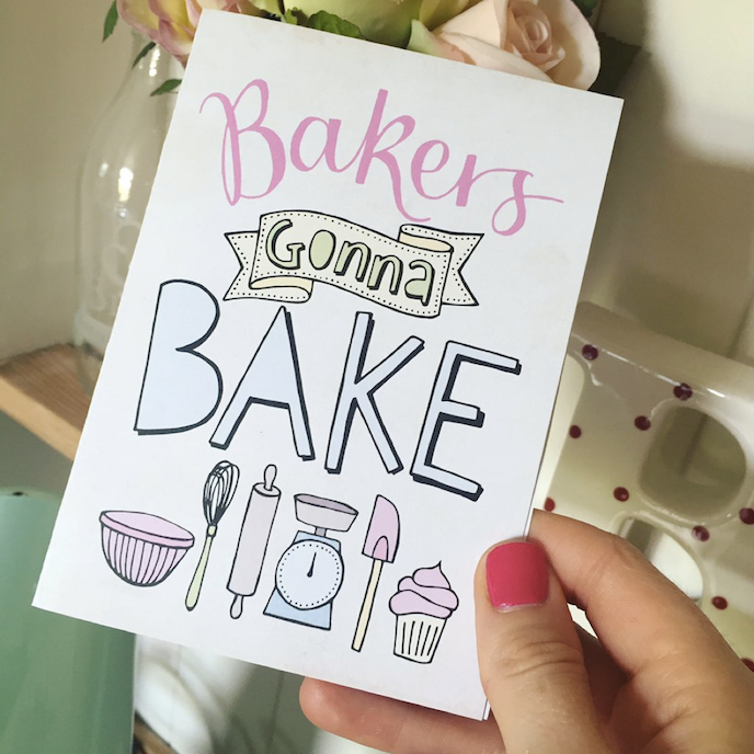 The Great British Bake Off: Greeting cards by Paper Fudge