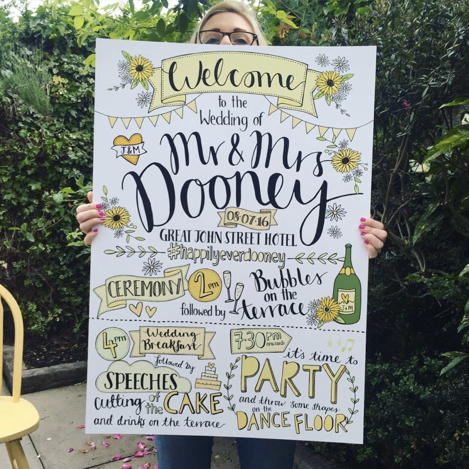 Wedding Stationery Showing Off: Welcome board by Paper Fudge