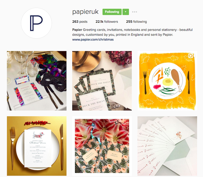 Papier Instagram Account stationers should be following