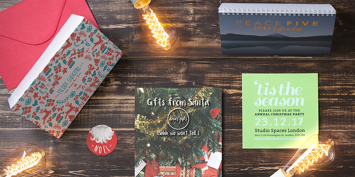 christmas print list: christmas print collection with calendars, hardback book, leaflets and stickers