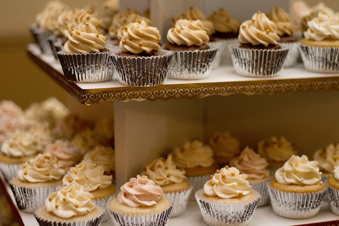 Tips for Successful Selling at Craft Fairs: cupcakes in silver wrapping