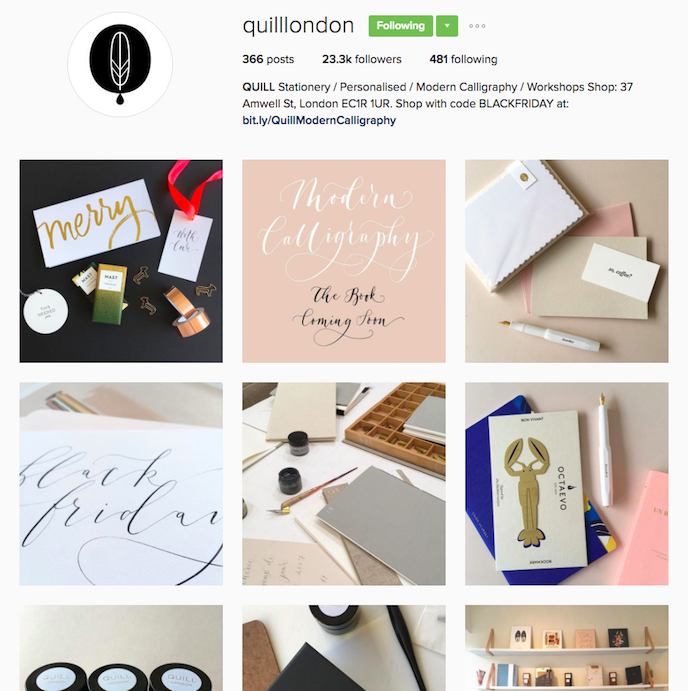 Quill London Instagram Account stationers should be following