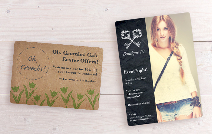 Rounded corners leaflets and flyers from printed.com