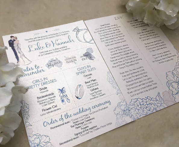 Wedding Stationery Showing Off: Order of service by Hollie