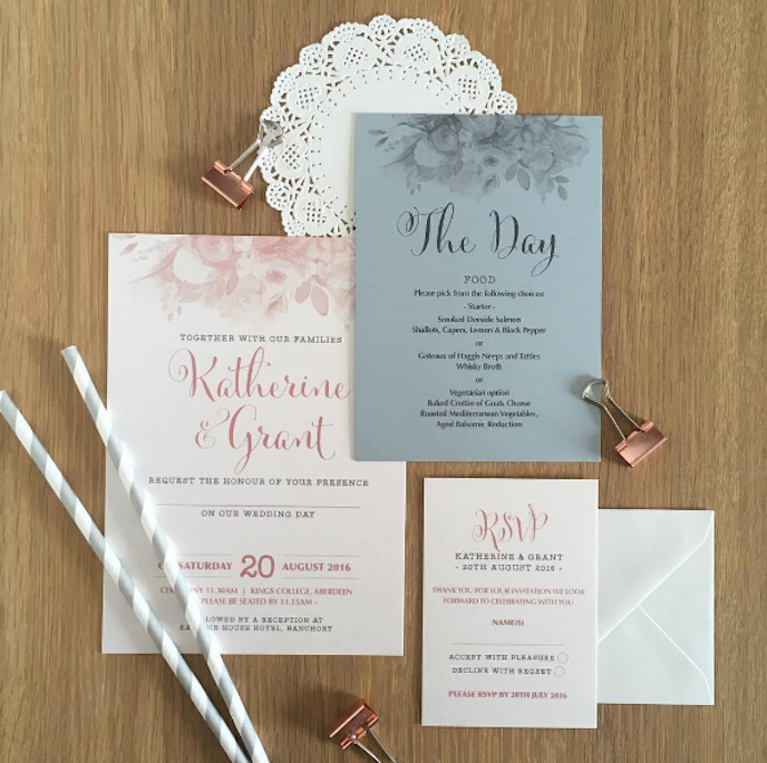 Products and Customer Artwork: Wedding stationery by Love Paper Co.