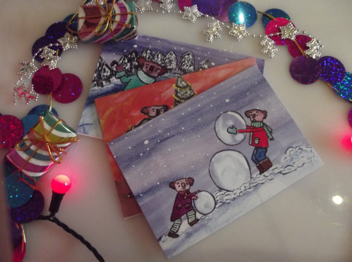 Friday's Favourites, Get into the Festive Spirit: Greeting cards by Jodie Cox