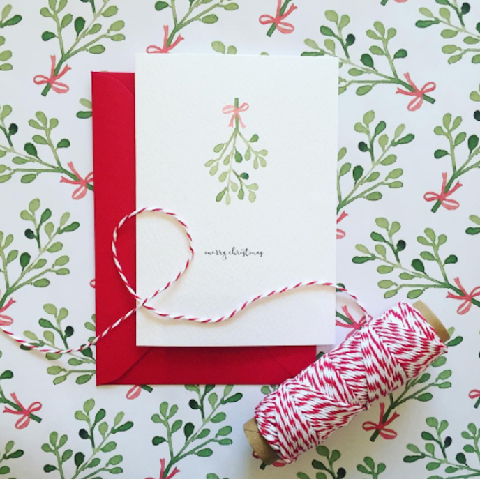 Pink Friday inspiration: christmas card design by Little Lights Invites