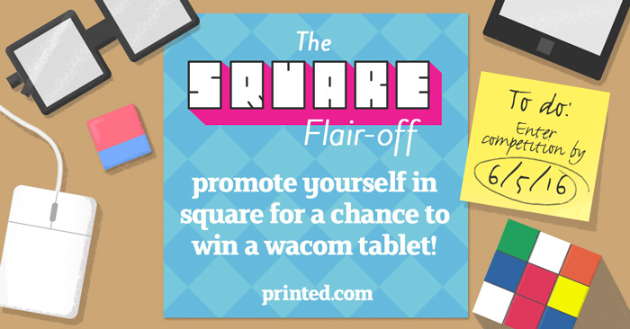 square flaire off design competition  win a wacom tablet