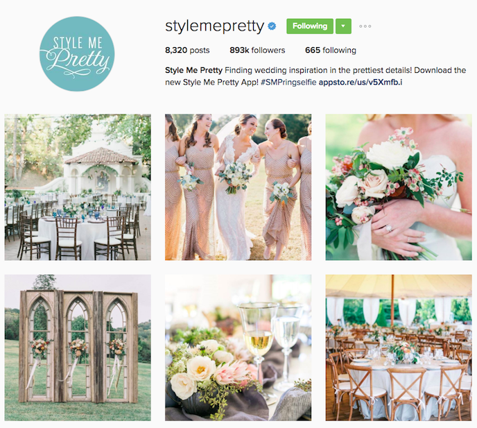 Style me pretty Instagram Account stationers should be following