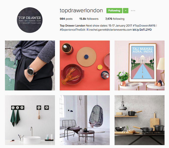 Top Drawer Instagram Account stationers should be following