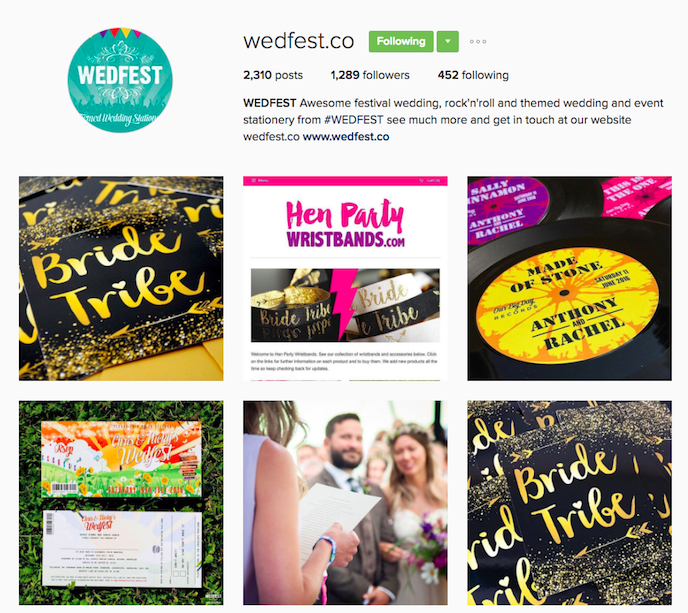 Wedfest Instagram Account stationers should be following
