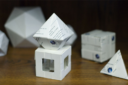 Use your old business cards and convert it in an origami