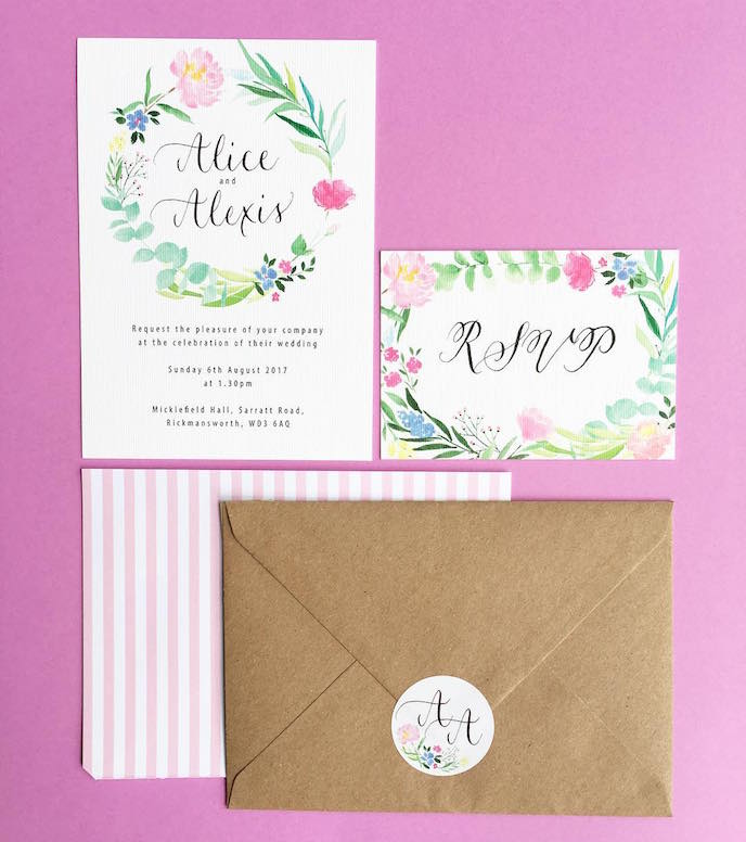 Friday's Favourites: Summer Bank Holidays Inspiration: Wedding Stationery by Rosie Cowley Designs