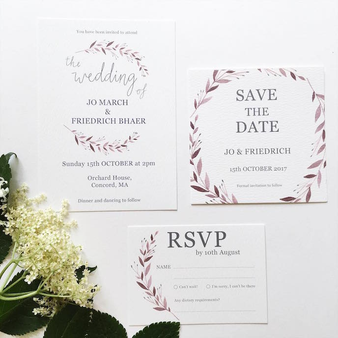 Friday's Favourites: Get your Fresh Design Fix: Wedding stationery by Olive & Millicent