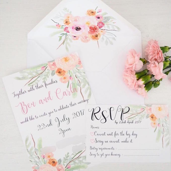 Friday's Favourites: Summer Bank Holidays Inspiration: Wedding Stationery by Carla Herrings
