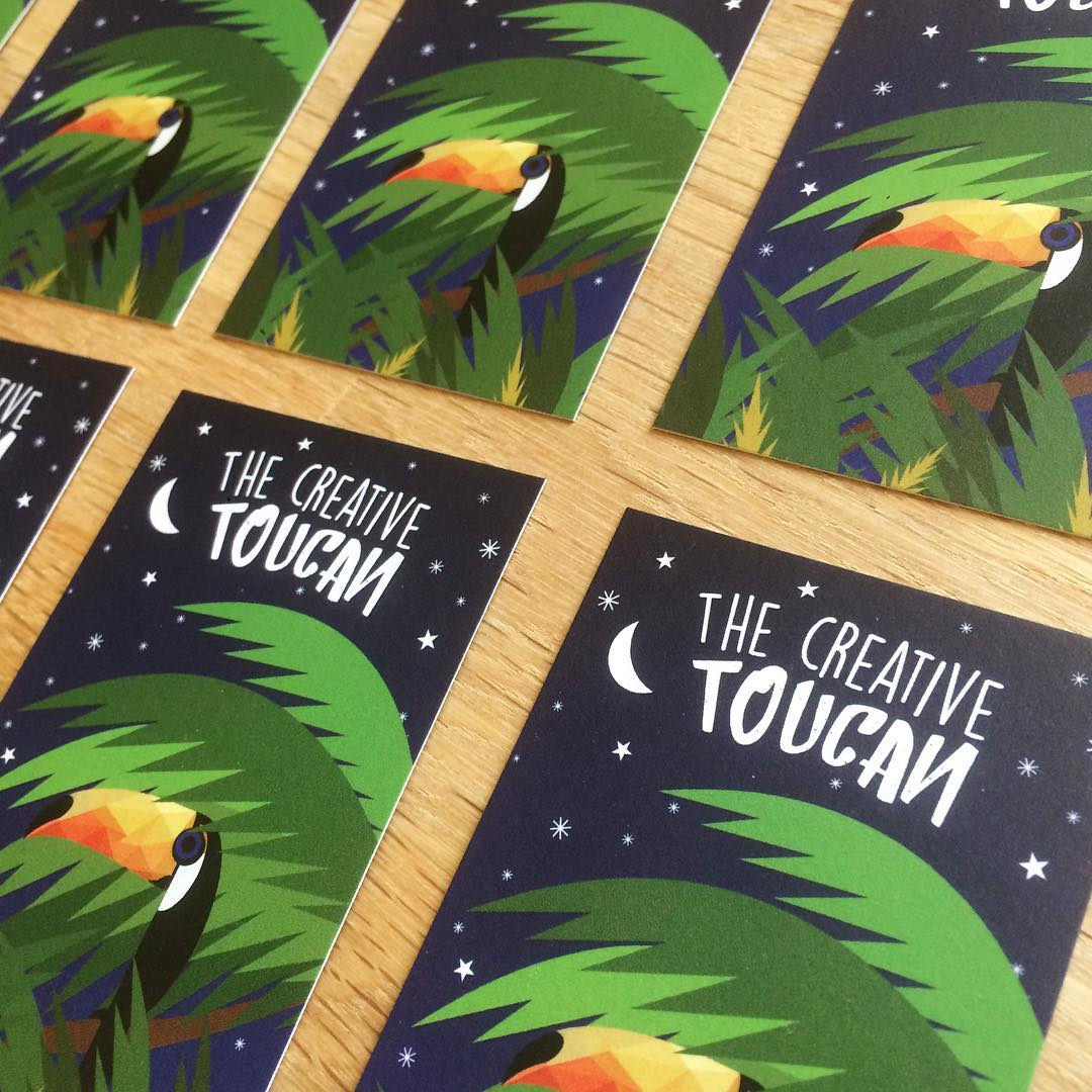 Inspiration for Late Summer: Business Cards by The Creative Toucan