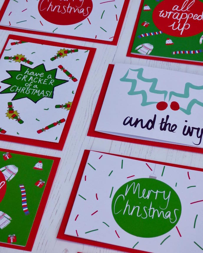 Friday's Favourites: Celebration Christmas Prints . Greeting Cards by Better Half Full