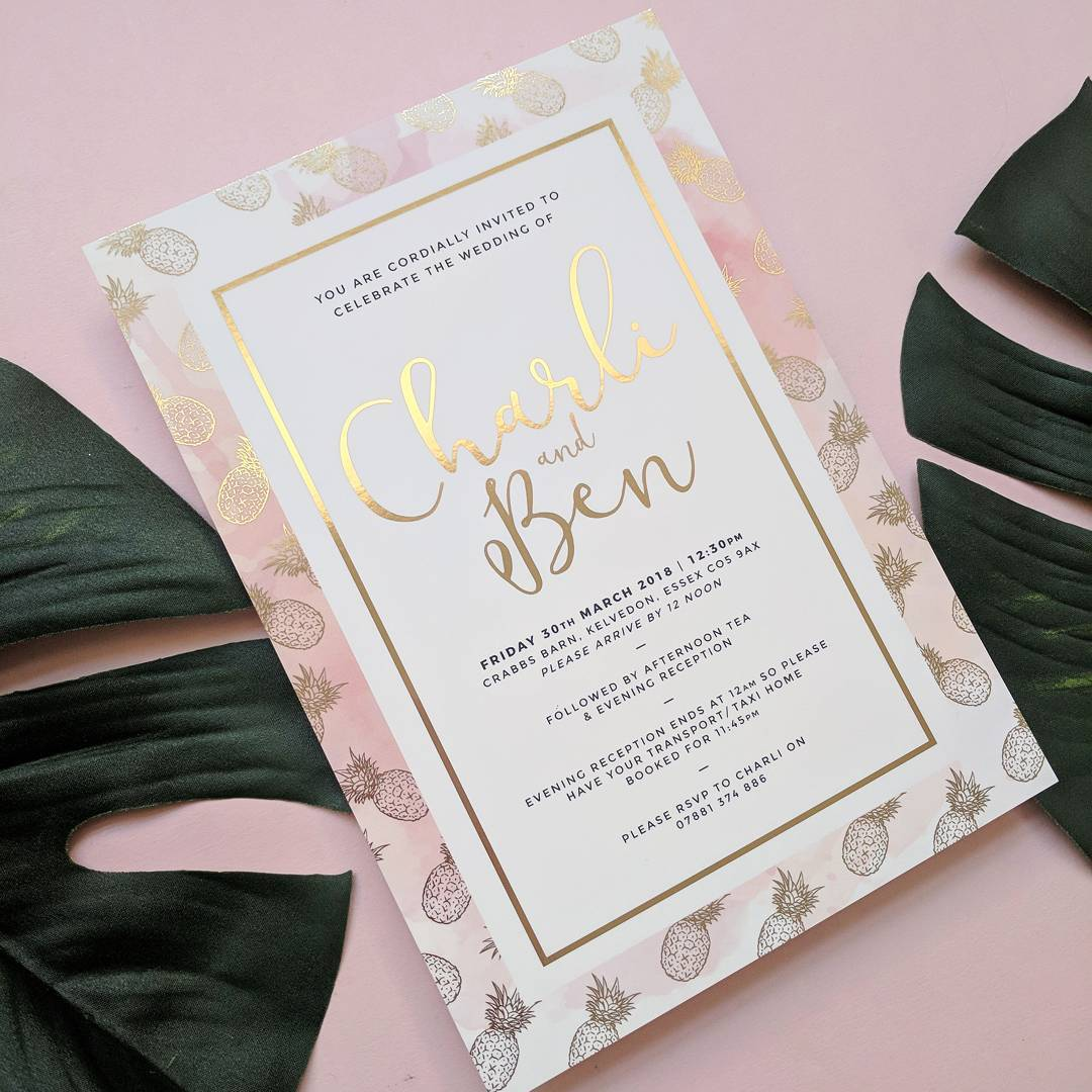 Friday's Favourites – Best of 2017: Wedding Stationery by VP Wedding Stationery