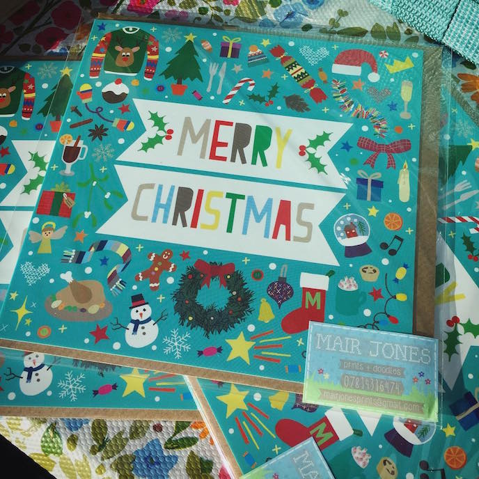 Friday's Favourites: Celebration Christmas Prints . Greeting Cards by Mair Jones