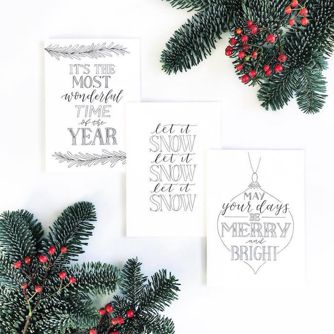 Friday's Favourites: Celebration Christmas Prints . Greeting Cards by Type by Alice