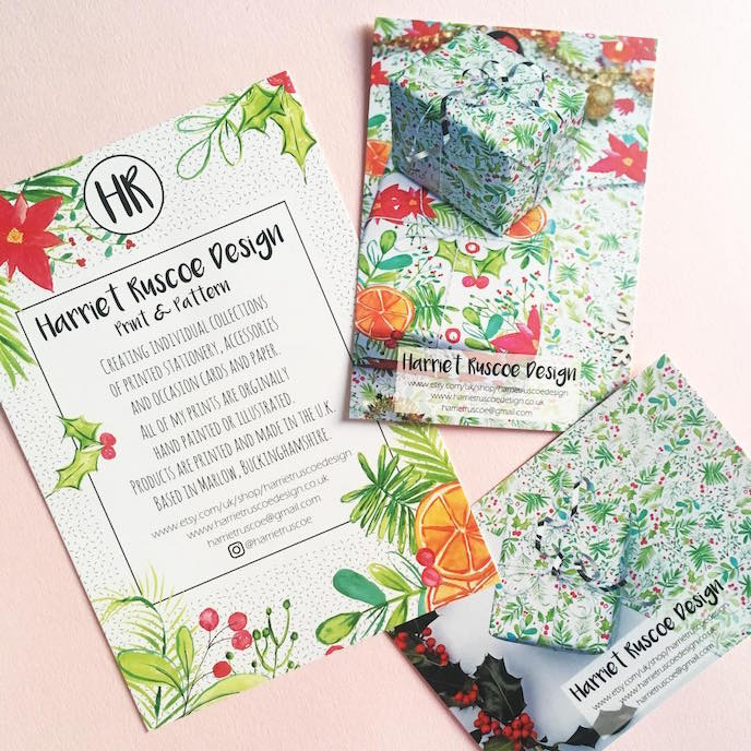 Friday's Favourites: Celebration Christmas Prints . Business Stationery by Harriet Ruscoe