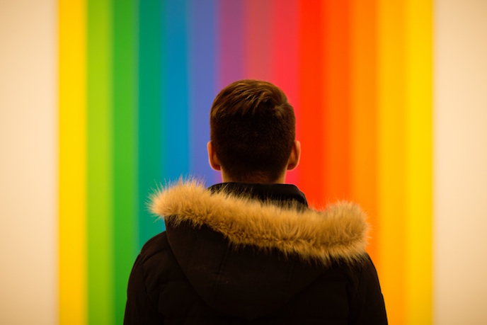 Rainbow Wall: Justine Fox on boosting your business with colour
