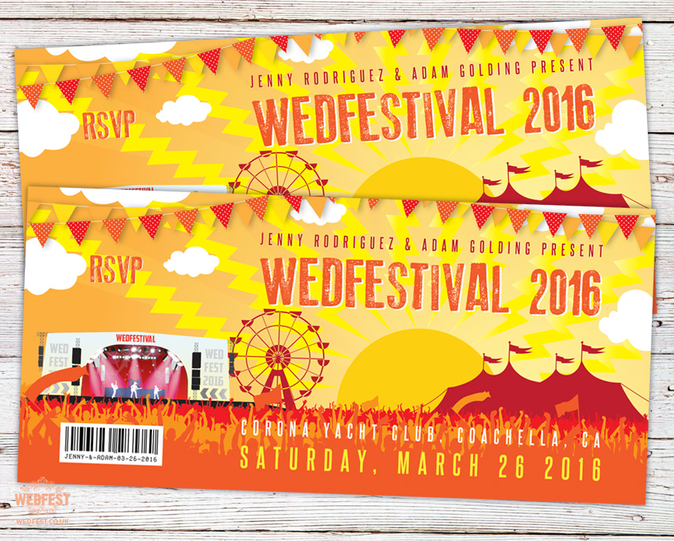 Wedfest dsign poster with wedfestival 2016 in yellows and oranges