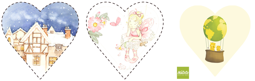 heart-shaped stickers