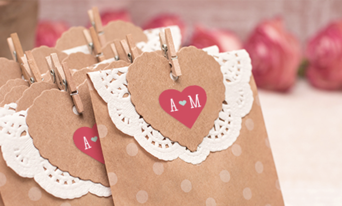 Heart shaped stickers in red for envelopes as Ways you Can Use Stickers