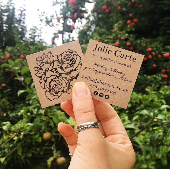 Friday's Favourites: Get your Fresh Design Fix: Business cards by Jolie Carte