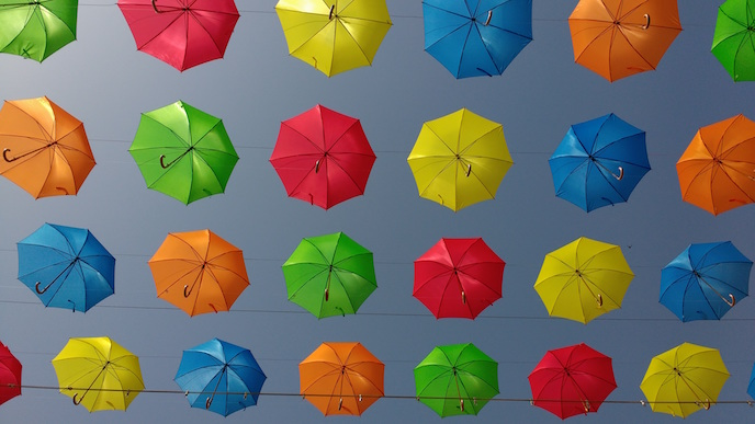 Colourful umbrellas: Justine Fox on boosting your business with colour