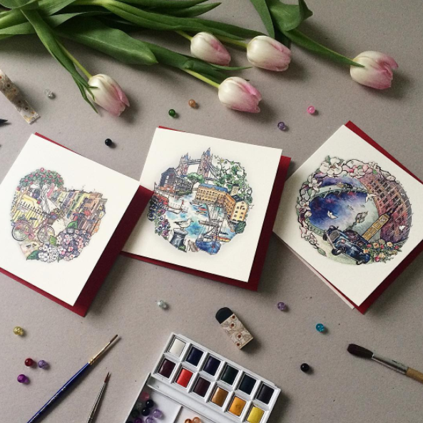 Fridays favourites a weekly blog featuring customer print creations the beauty in katerynas stunning greeting cards reflect her love of gardens houses streets and detailed drawings the london based illustrator and m4hsunfo