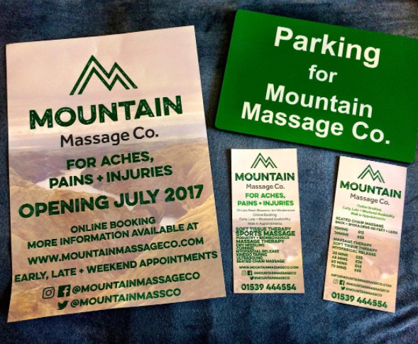 Friday's Favourites: Ready for Summer: Leaflets, posters and signs by Mountain Massage Co.