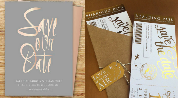 How to Use foiling - Save the Date Foiling Cards